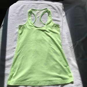 Lululemon Racer Tank Fluorescent Lime/White Dots